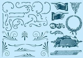 Ornamentos tipográficos vetor