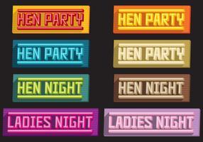 Títulos de Volume de Hen Party vetor