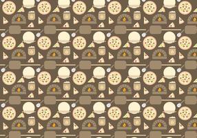 Vector de padrões de forno de pizza grátis