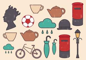 Conjunto de ícones da Grã-Bretanha vetor
