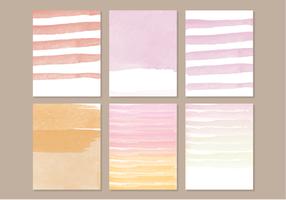 Elementos da aquarela do vetor