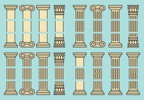 Colunas editáveis vetor