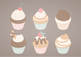 Ilustração dos cupcakes do vetor