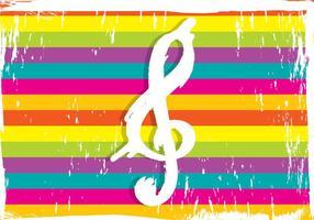 Chave de violino em fundo colorido vetor