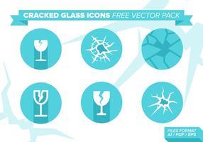 Ícones de vidro rachado Pacote de vetores grátis