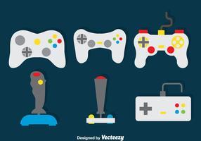 Conjunto de vetores do controlador de jogo