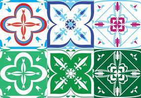 Conjunto de azulejos portugueses vetor