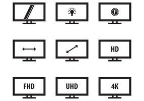 Monitor de ícone led livre vetor