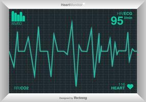 Cardiograma vetorial do coração vetor