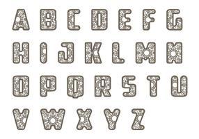 Lace letras pacote de vetores