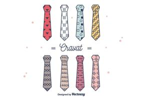 Hipster style cravat vector
