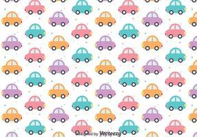 Padrão de carros bonitos coloridos vetor