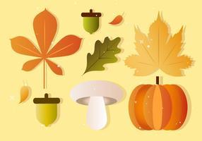 Elementos livres do outono da queda do vetor