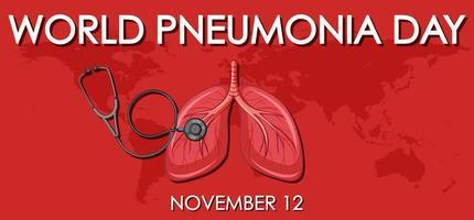 dia mundial da pneumonia vetor