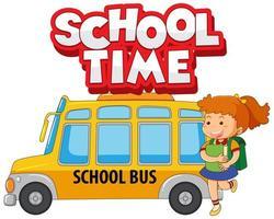 tempo de escola com crianças felizes vetor