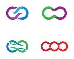 símbolos infinitos corporativos vetor