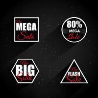 mega emblemas de venda vetor