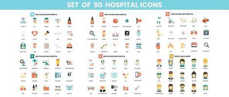 conjunto de ícones de hospital para negócios