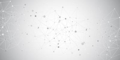 conectando linhas e pontos vetor