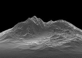 paisagem abstrata wireframe vetor