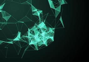 fundo abstrato conexões de rede vetor
