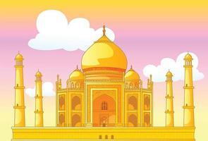 Taj Mahal na Índia vetor