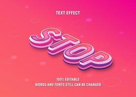 editável texto isométrico rosa, roxo vetor