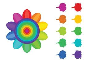 Vetores de amostras de cores