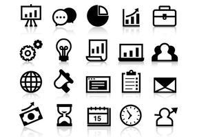 Negócio livre cresce vetor de ícones