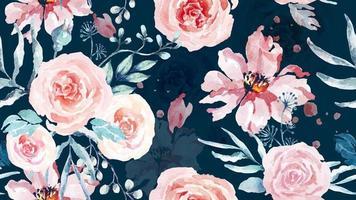 rosa padrão sem emenda