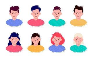 conjunto de avatar de pessoas vetor