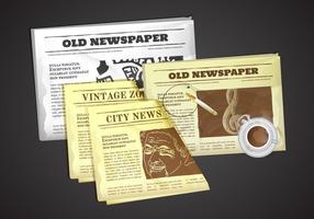 Ilustração antiga do vetor do jornal antigo
