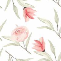 padrão sem emenda floral em aquarela de pintados à mão vetor