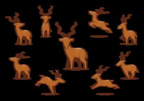 Ícones do Grande Kudu vetor