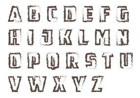 Pacote de vetores grunge letras