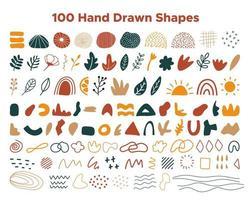 coleção de formas desenhadas à mão vetor