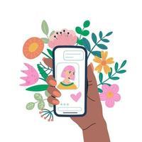 conceito de aplicativo de chat online vetor