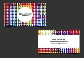 Cartão de visita brilhante brilhante do vetor
