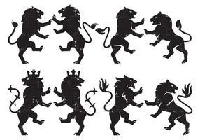 Leão da heráldica vetor