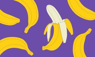 padrão de banana colorida vetor