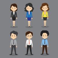 conjunto de personagens de desenhos animados de negócios vetor