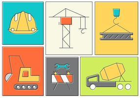 Elementos de construção gratuitos vetor