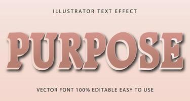 efeito de texto de propósito rosa vetor