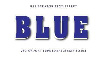 efeito de texto com sotaque azul e branco vetor
