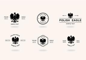 Seis águia polonesa negra vetor