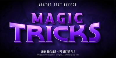 efeito de texto editável de estilo mágico vetor