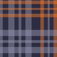 textura de camisa listra angular azul e laranja sem costura padrão vetor