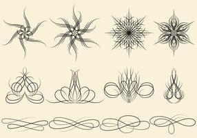 Ornamentos de listra de pin vetor