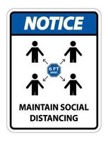 manter aviso de distanciamento social vetor