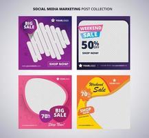 marketing de mídia social colorido